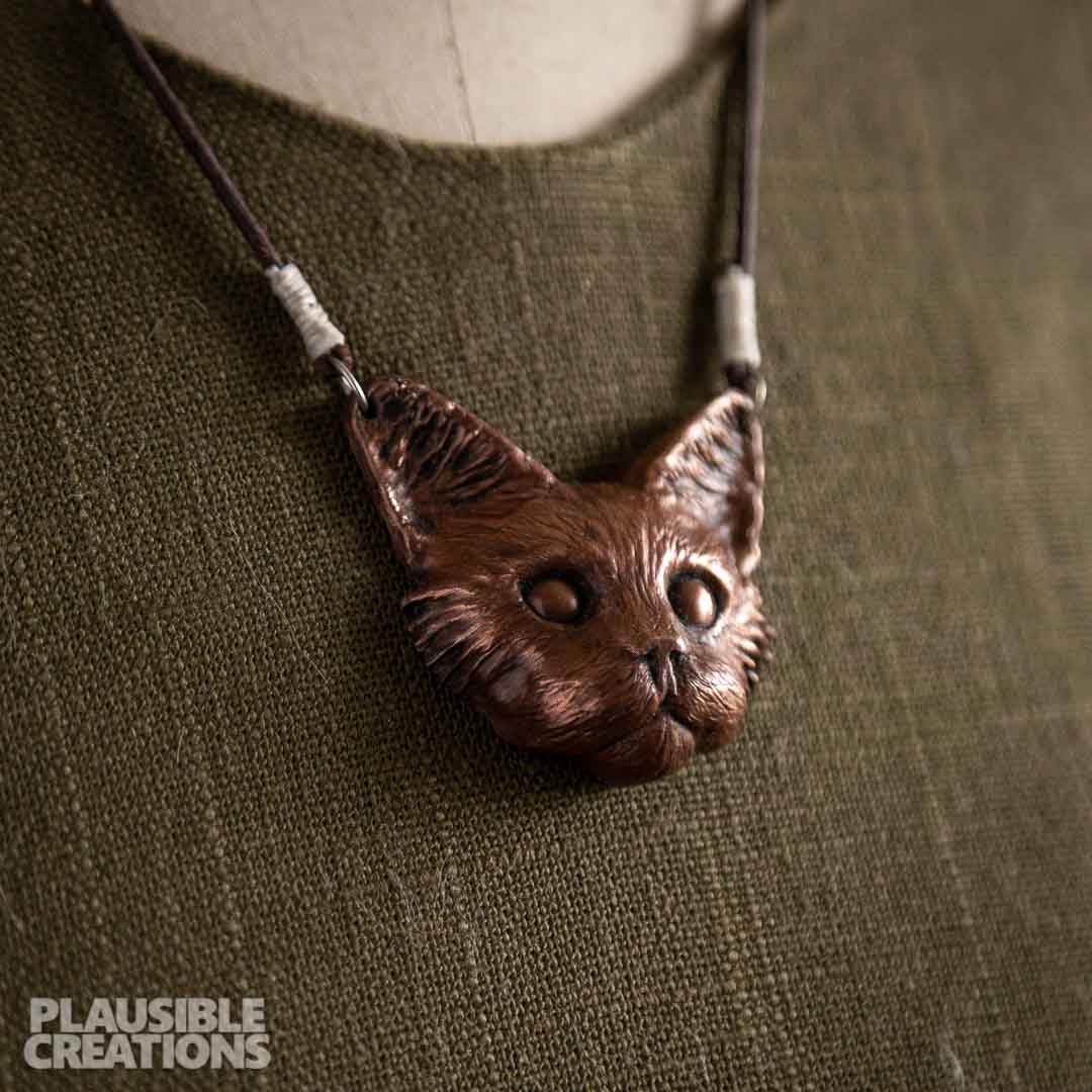 Maine Coon Copper Necklace